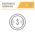 money editable stroke line icon vector image vector image