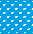 ocean wave with foam pattern seamless blue vector image vector image