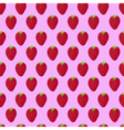Pink and red strawberry textile print seamless vector image
