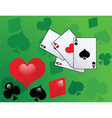 playing card with aces vector image vector image