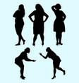 plus size woman silhouette 05 vector image vector image