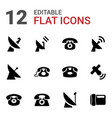 receiver icons vector image vector image