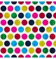 retro polka dots seamless pattern vector image vector image