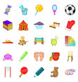 schoolboy icons set cartoon style vector image