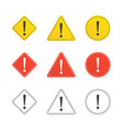 set of caution icons vector image vector image
