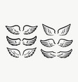 set of wings icons design elements for logo vector image
