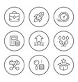 set round line icons start up vector image vector image