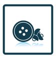 Sewing buttons icon vector image