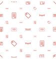 special icons pattern seamless white background vector image vector image