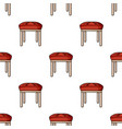 Stool icon in cartoon style isolated on white