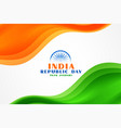 stylish wavy indian flag for republic day event