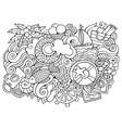 summer hand drawn cartoon doodles funny travel vector image vector image