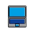technology device laptop communication digital vector image vector image