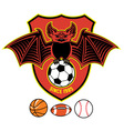 vampire bat as a sport mascot vector image