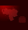 venezuela map abstract schematic from red lines vector image