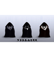 villains in capes vector image vector image