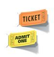 entrance tickets vector image