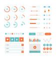 modern ui flat design kit in trendy color vector image