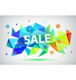 sale - summer spring faceted 3d banner vector image