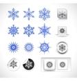 set of snowflake shapes vector image