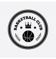 Basketball logo design vector image