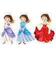 a set of beautiful princes vector image vector image