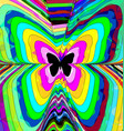 abstract color image of butterfly vector image