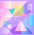 abstract geometric background bright colorful vector image