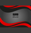 abstract geometric black and red color wave with vector image vector image