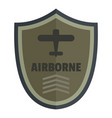airborne icon logo flat style vector image