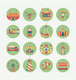 amusement park round icons vector image vector image