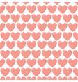 background decorative love hearts romantic vector image