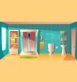 bathroom interior shower cabin