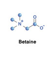 betaine neutral chemical compound vector image vector image