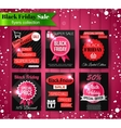 Black Friday Sale banners flyers collection vector image