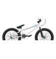 bmx bicycle mockup - right side close-up vector image vector image