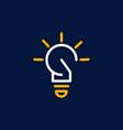 bulb light minimalist business logo design vector image vector image
