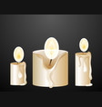 candle with light on black background vector image vector image