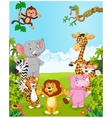 Cartoon collection happy animal vector image vector image