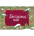 Christmas Sale Banner Winter Poster with Plants vector image