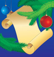 christmas scroll vintage vector image vector image