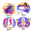 collection of zodiac signs vector image vector image
