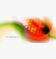 color flowing wave trendy liquid design template vector image vector image