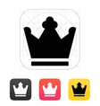 Crown King icons vector image