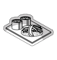 delicious japanese food isolated icon vector image vector image