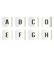 dice alphabet a to h vector image