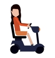 Disabled girl cartoon design vector image vector image