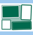 four frame template for notes vector image vector image