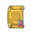 Graduation certificate document to grade