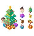 isometric christmas tree new year vector image vector image